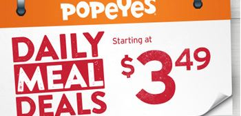 Popeye's Canada Deals of the day
