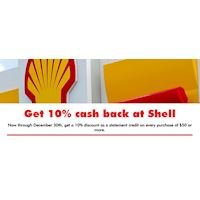 Get 10% cash back at Shell